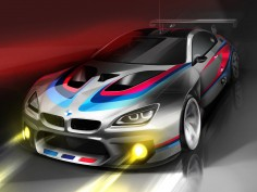 BMW reveals sketches of the 2016 M6 GT3