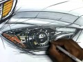 Rendering Automotive Headlamps with Markers