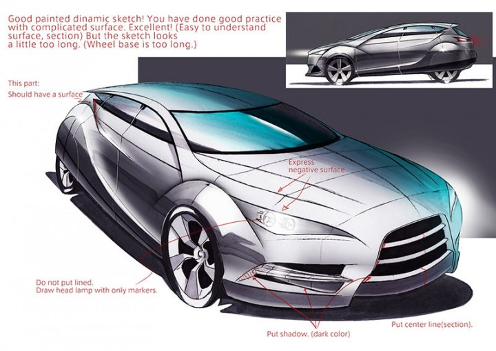 Car Design Academy - Sketching Review sample