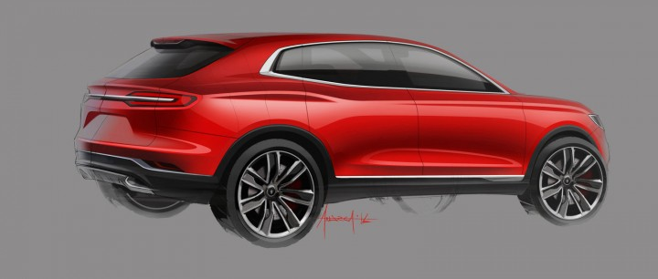 Lincoln MKX Concept - Early Design Sketch by Andrea di Buduo