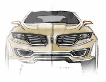 Lincoln MKX Concept - Front view Design Sketch