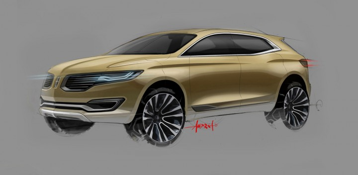 Lincoln MKX Concept - Front view Initial Design Sketch
