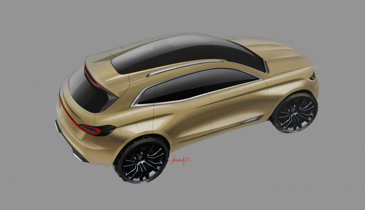 Lincoln MKX Concept - Roof Design Sketch