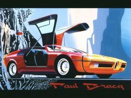 1972 BMW Turbo Concept - Illustration by Paul Bracq