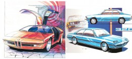 1973 BMW Turbo and BMW 320 - Design Sketches by Paul Bracq