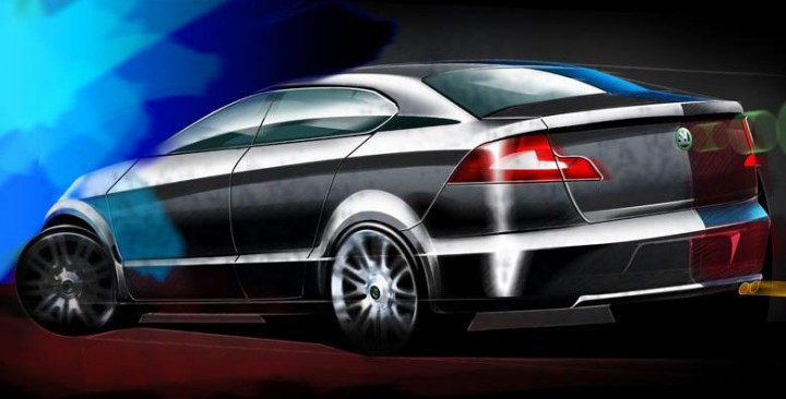 2008 Skoda Superb - Design Sketch