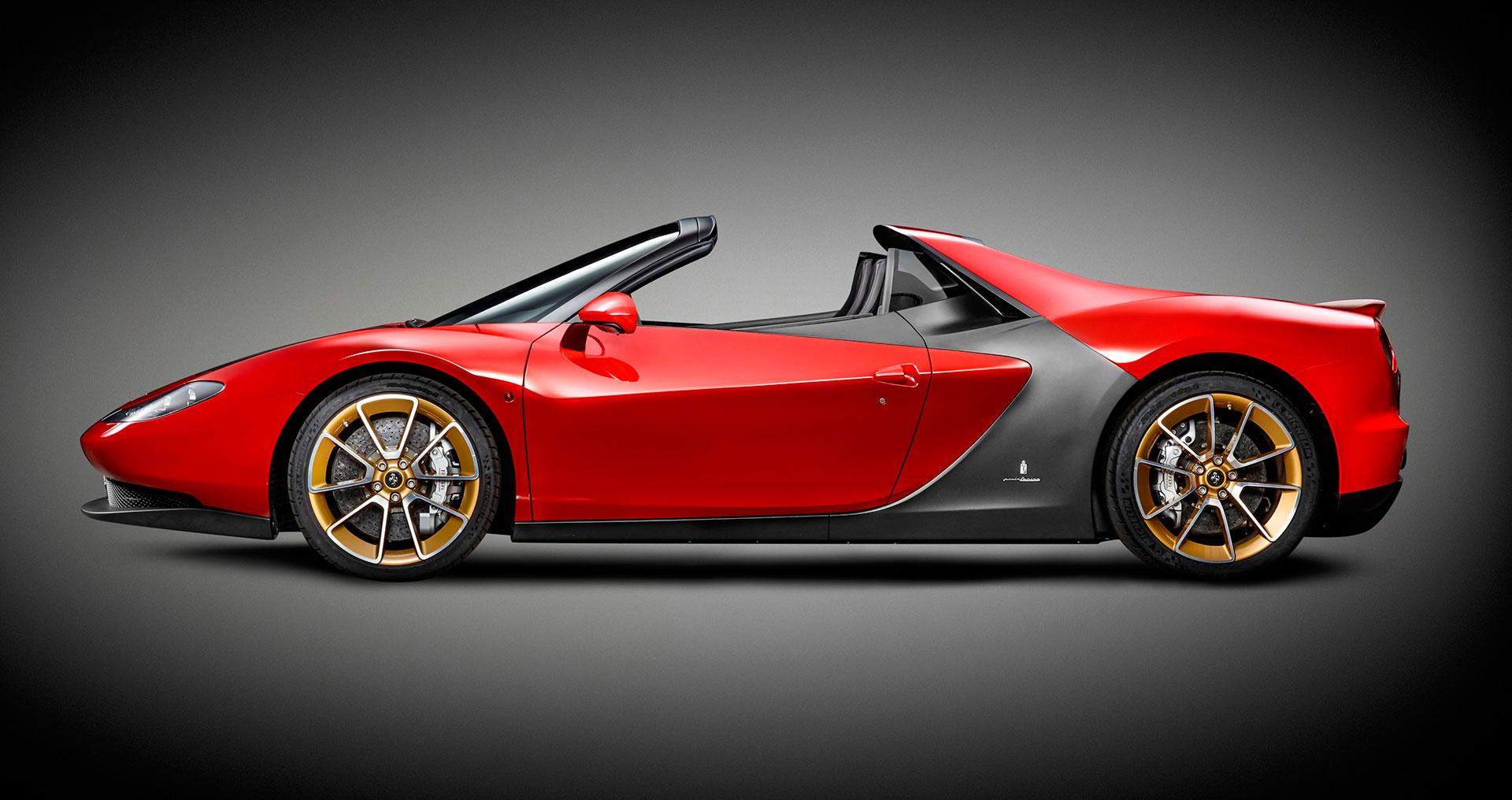 Ferrari Sergio Side View Car Body Design