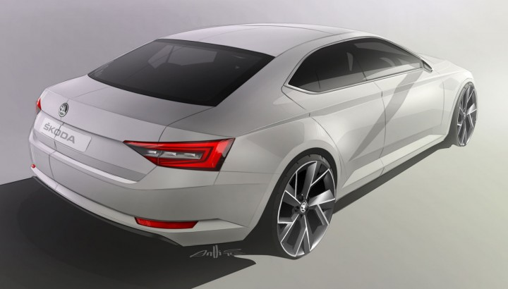 Skoda New Superb Design Sketch
