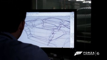 2016 Ford GT - Alias wireframe screenshot
