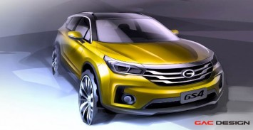 GAC GS4 SUV Design Sketch
