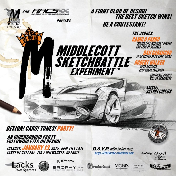 Middlecot Sketchbattle Experiment poster