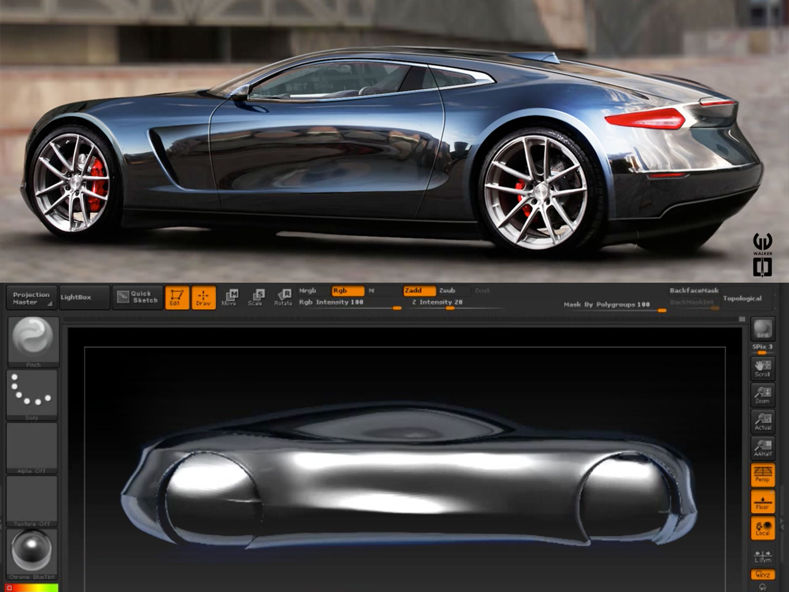 Concept Car 3D model in ZBrush by carstylus - Car Body Design
