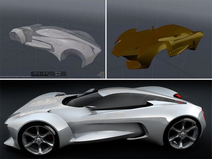 Concept Car 3D resurfacing with MODO and ZBrush