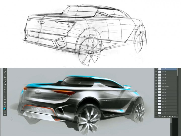 Truck Concept Design Sketching Demo