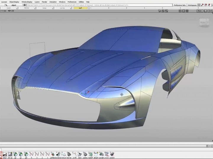 Surface modeling an Aston Martin One-77 in Autodesk Alias Surface