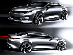 Kia reveals design sketches of next-gen Optima