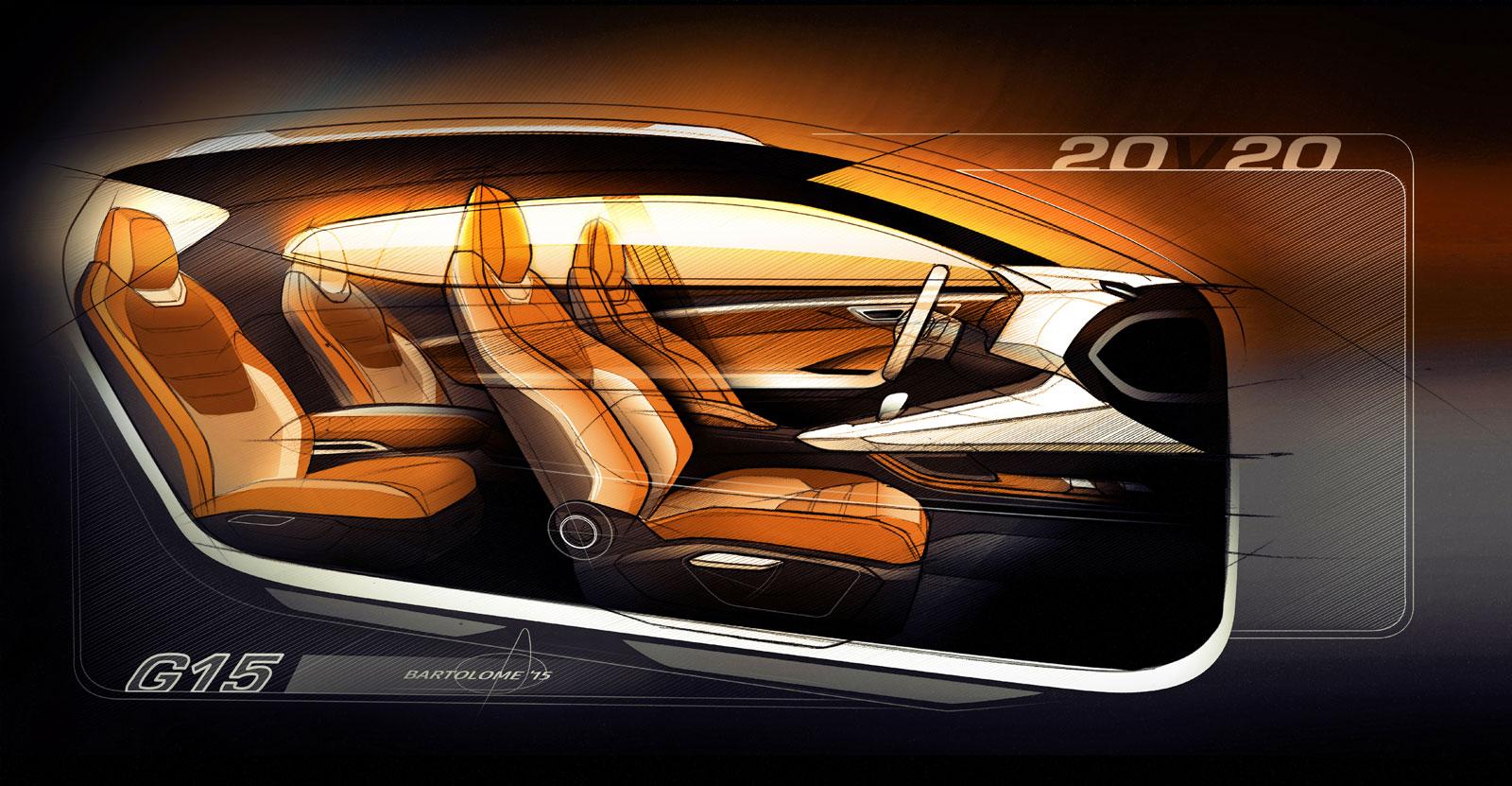 Seat 20v20 Concept Interior Design Sketch Car Body Design