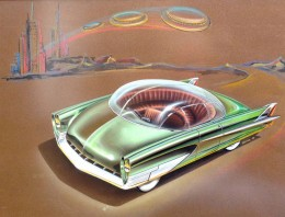 1953 Ford Concept design illustration by Charles Balogh