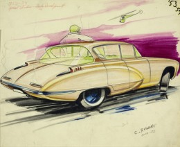1953 GM Special Body Development Studio - Desig Sketch Render by Carl Renner