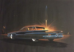 1958 Plymouth Fury - Design Illustration by George Krispinsky