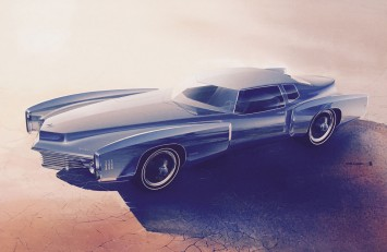 1968 Oldsmobile Toronado - Design Sketch render by Roger Hughet