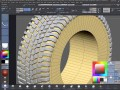 Modeling a tire tread in ZBrush