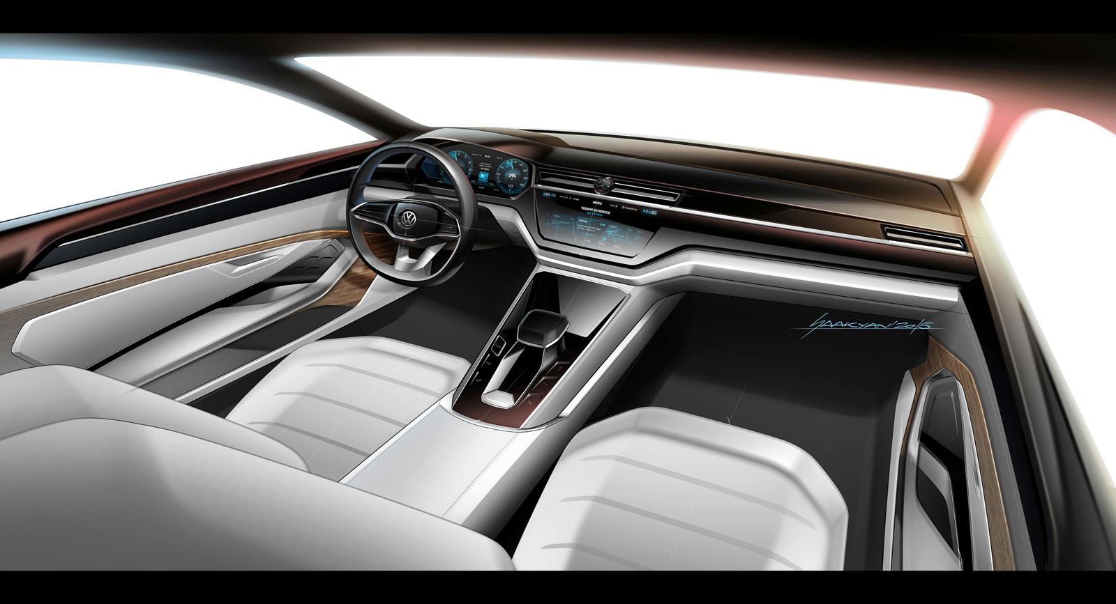 BMW M8 2015 >> Volkswagen C Coupe GTE Concept Interior Design Sketch ...