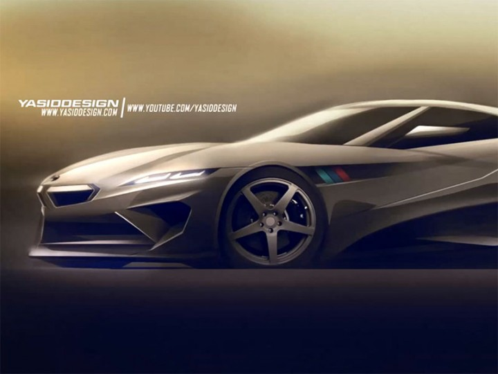 BMW Concept Sketch and Render demo