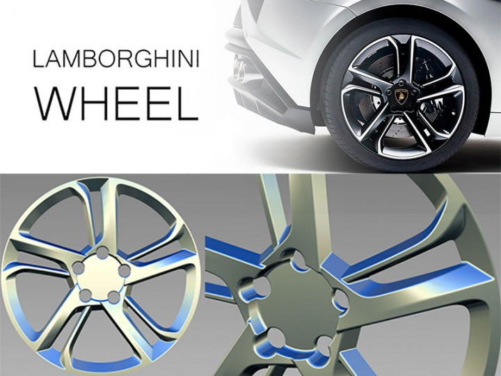 Modeling a Lamborghini wheel in Autodesk Alias Surface