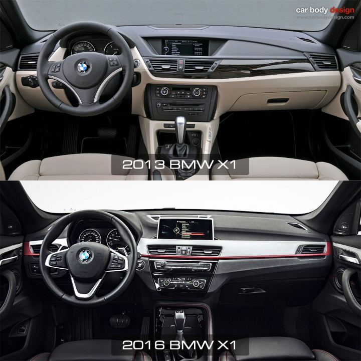 1st vs 2nd generation BMW X1 - Interior Design Comparison