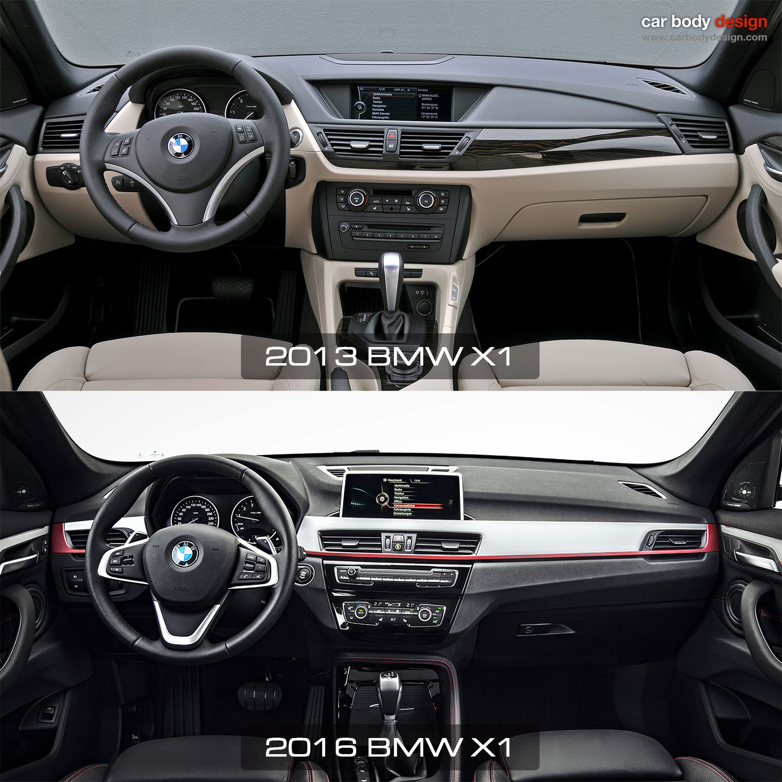 1st Vs 2nd Generation Bmw X1 Interior Design Comparison Car Body Design