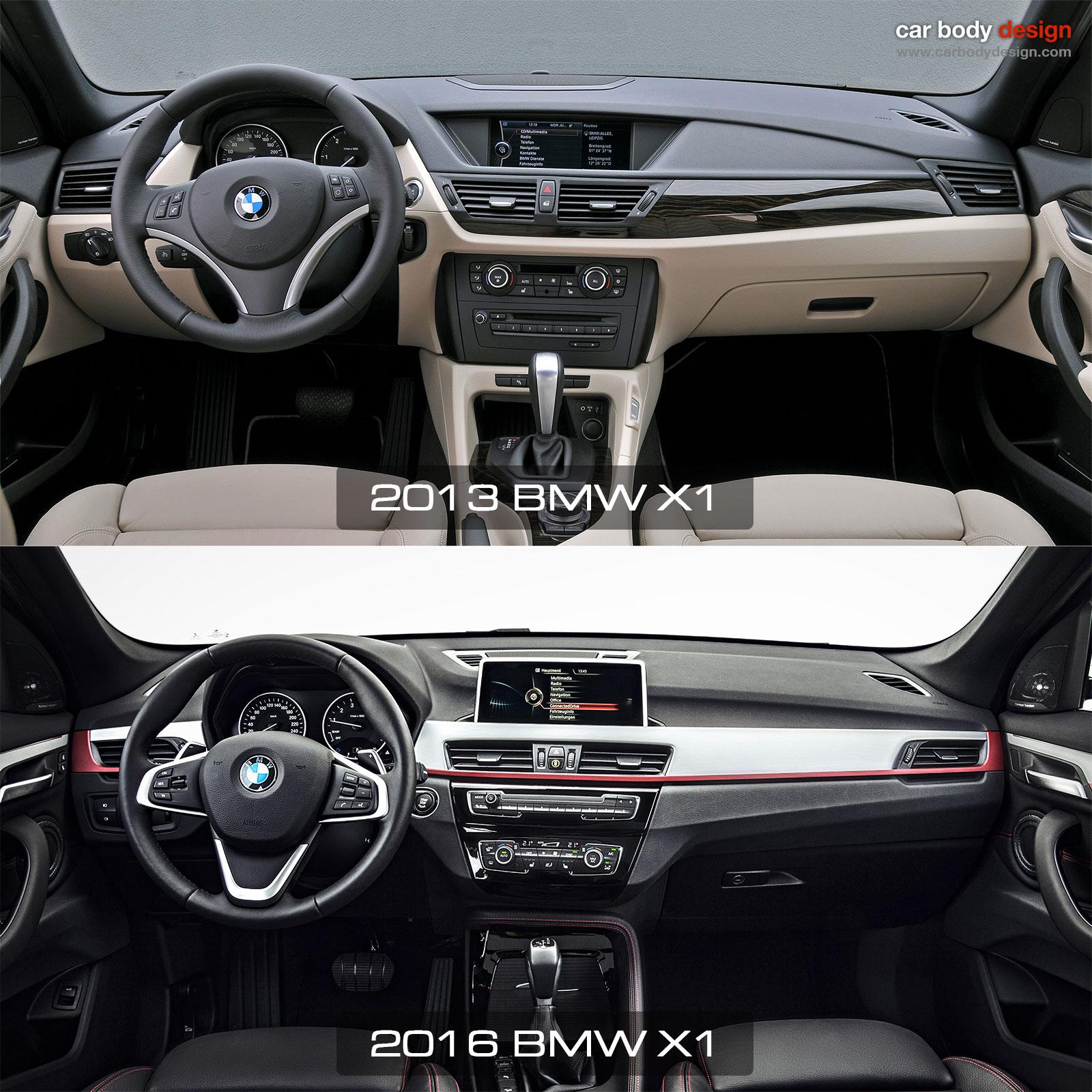 1st Vs 2nd Generation Bmw X1 Interior Design Comparison Car Body Design