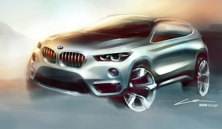 2016 BMW X1 - Design Sketch