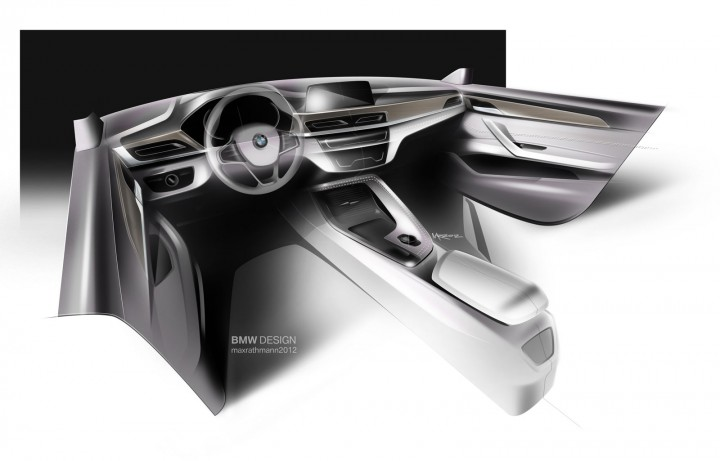 2016 BMW X1 - Interior Design Sketch