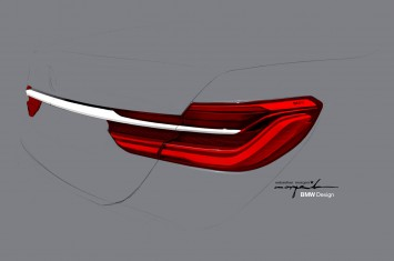 BMW 7 Series Tail Lights Design Sketch