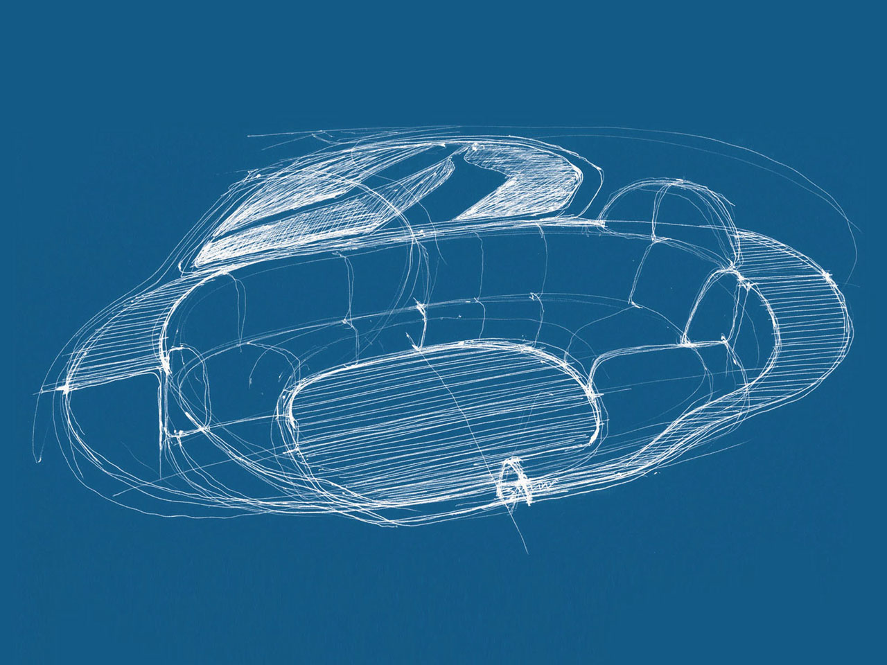 BMW Spheres Project by Alfredo Haberli - Vessel Concept - Interior drawing