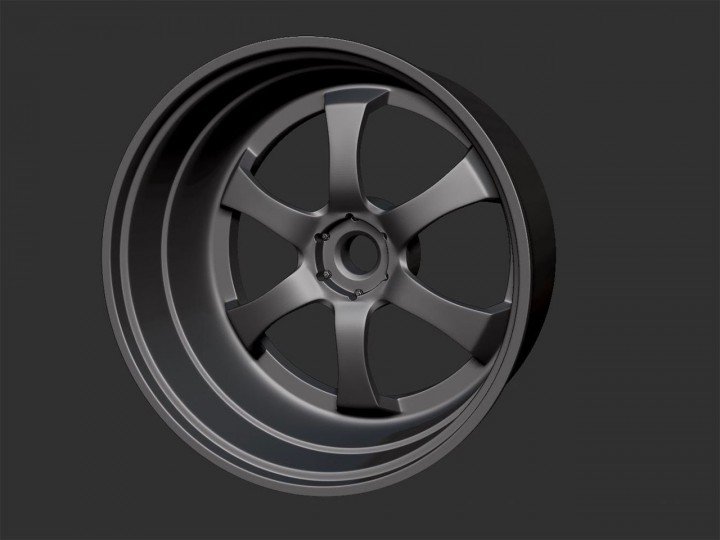 3D modeling a car rim in ZBrush 4R7