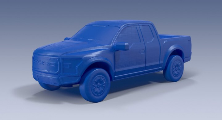 Ford F150 PLA 3D Printed Model