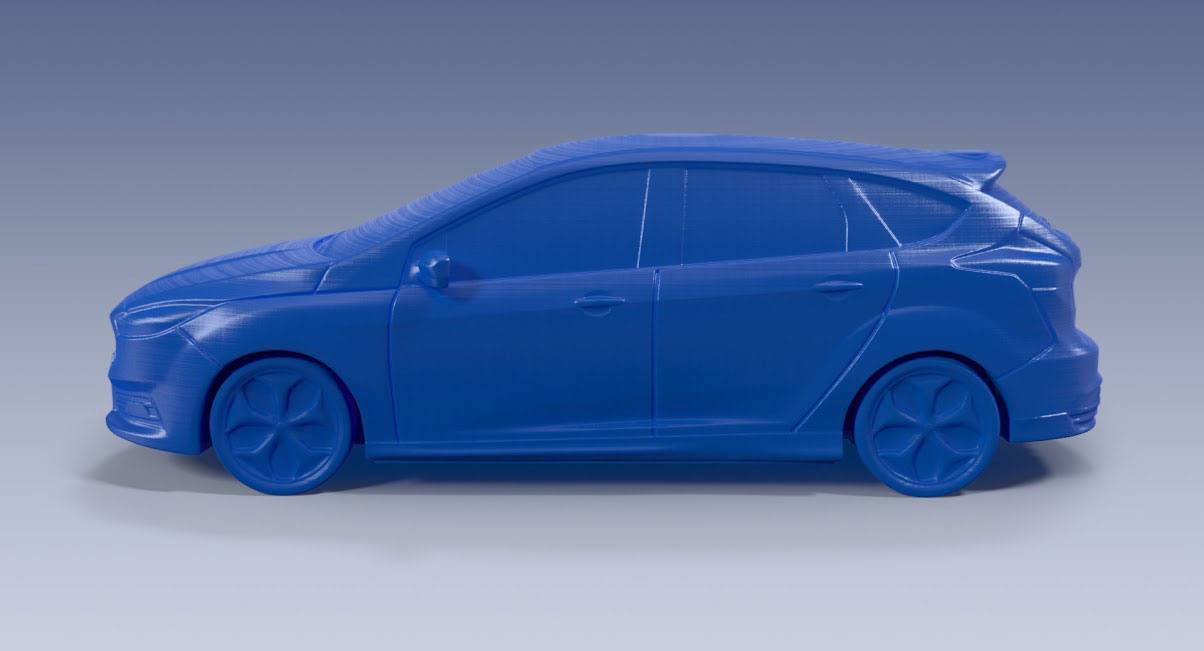 Ford Focust ST - PLA 3D Printed Model - Car Body Design