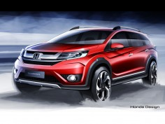 Honda BR-V: preview design sketches