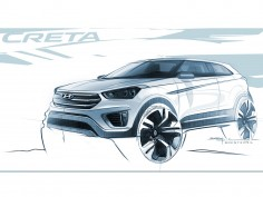 Hyundai Creta: preview design sketches