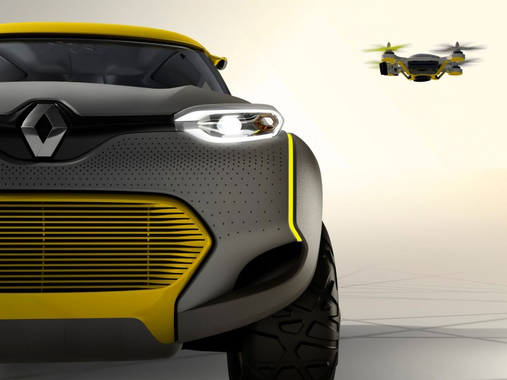 Renault Kwid Concept and Drone