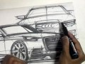 Car Marker Sketch Video: Composing a Page