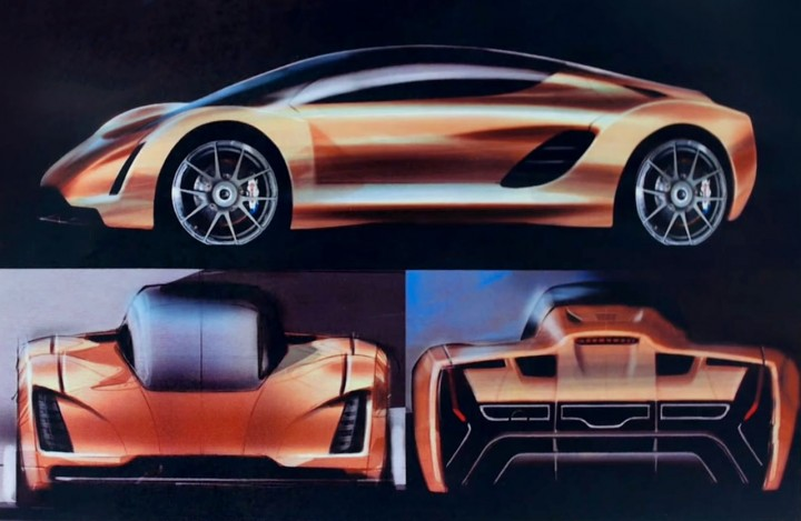 Divergent Microfactories Blade 3D printed car - Design Sketches