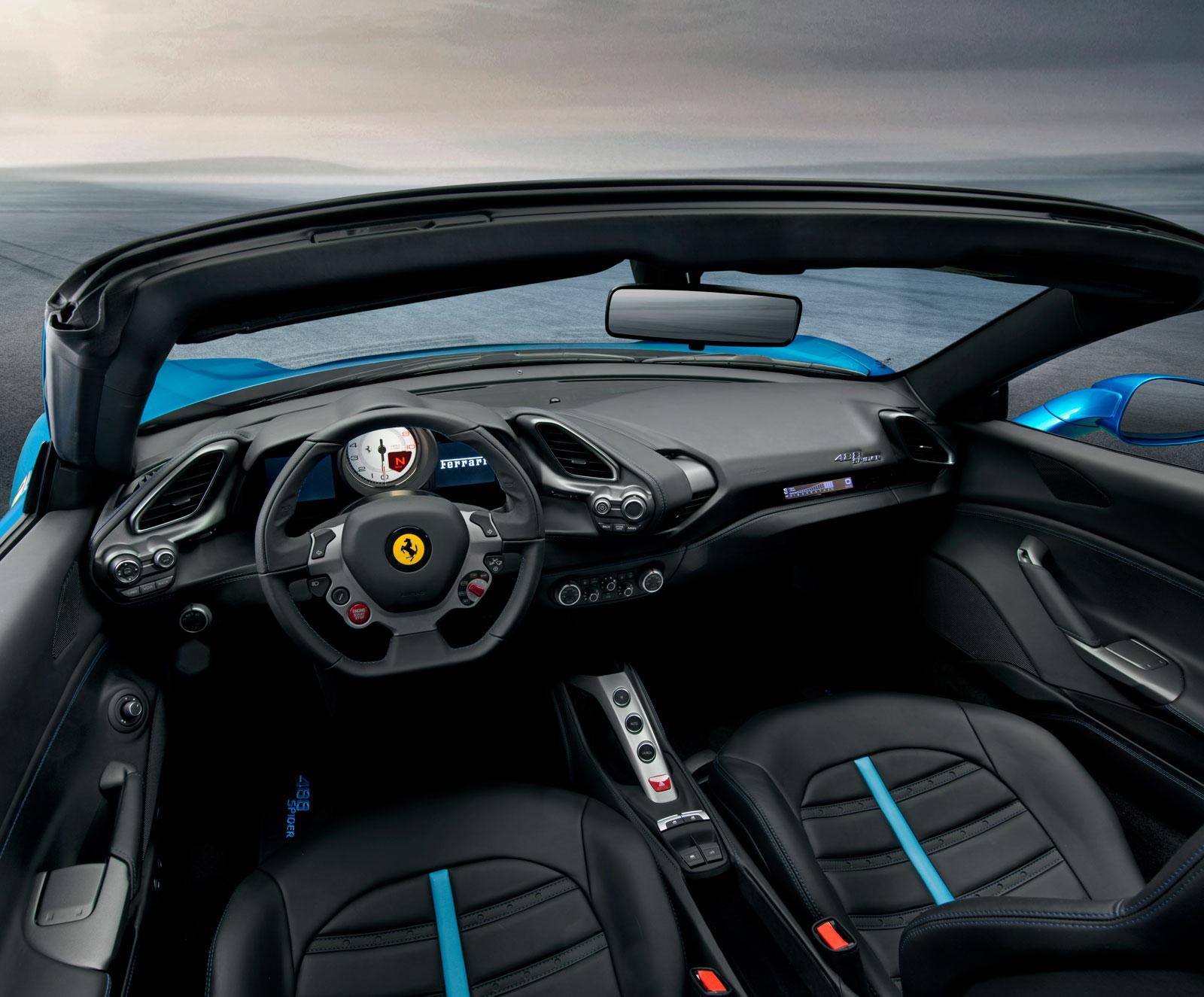 Ferrari 488 Spider Interior Car Body Design