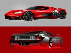 New Ford GT: design sketch gallery