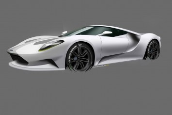 Ford GT Design Theme D Design Sketch by Giancarlo Viganego