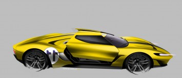 Ford GT Exterior Design Sketch Render by Giancarlo Viganego
