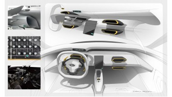 Ford GT Interior Design Sketch Render by David McCall