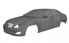 Mercedes-Benz 2006 S-Class Wireframe
